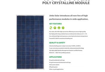 Jinko solar panel special